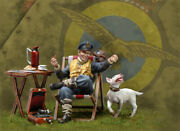British Army Fleet Officer At Rest Painted Figure Toy Miniature Pre-sale   Art