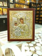 Virgin Mary Sterling Silver Orthodox Icon Silber Orthodoxe Ikone