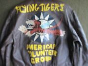 Wwii Style Cooper A-2 Painted Leather Flight Jacket Flying Tigers Size 42 L