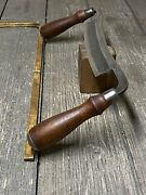 Rare Stanley Draw Knife 8andrdquo Curved Spine 1890-1910 Razor Sharp Very Scarce