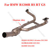 Complete Exhaust Link Pipe For Bmw R12000gs Rt Rs Header Connector Tube Titanium