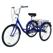 Royal London Adult Bromley Tricycle 3 Wheeled Trike Bicycle With Shopping Basket