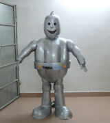 Latest High Quality Cool Silver Grey Robot Eve Mascot Costume Costume Suit Adult