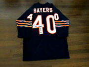 Gale Sayers Roy 65 Chicago Bears Signed Auto Quality Throwback Jersey Jsa Gai