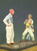 U.s. Army Marines Pilot And Officer Deck Painted Toy Miniature Pre-sale   Art