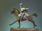 French Army Trooper On Horse Painted Toy Figure Miniature Pre-sale   Art