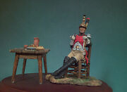 French Army Officer Of 4th Dragoons Regiment Painted Miniature Pre-sale | Art