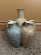 Rare Antique Royal Worcester Stacked Vase/ Vases,blue-green-yellow-pink