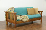 Craftsman Hand Crafted Mesquite Sofa Or Settee Futon Cushion Arroyo And03995 36206
