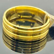 22k Ring Solid Gold Elegant Simple Double Channel Ladies Band R2407