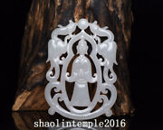 3.8 Ancient China Natural Nephrite Hand Carving Two Phoenixes Jade Brand