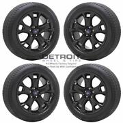 18 Ford Escape Gloss Black Wheels Rims And Tires Oem Set 4 2013-2019 3946