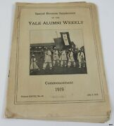 1919 Yale Alumni Commencement Issue Wwi Victory 60 Class Reunion Rare
