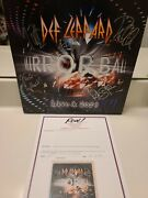 Autographed Def Leppard Mirroball Live Album...by All 5...epperson Full Letter
