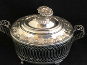 Sugar Bowl Style Louis Xvi Solid Silver Antique French Silverware