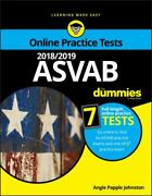 2018/2019 Asvab For Dummies With Online Practice By Angie Papple Johnston...