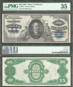 20 1891 Silver Certificate=fr. 322=daniel Manning=pmg Ch Vf 35=comment Free