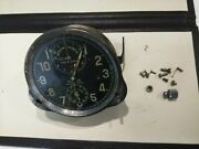 Vintage Swiss Clock Chronograph Jaeger Lecoultre 8 Days Russian Air Force Wwii