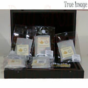 2020 Real Shapes 50 3 Oz Pure Silver Proof 6-coin Set W/collector Wood Box/case