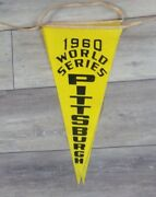 1960 World Series Pirates Vs Yankees Forbes Field Hung Grandstand Banner Wow