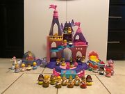 Fisher-price Little People Disney Princess Songs Palace 2012 Huge 33 Piece Lot