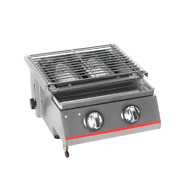 Stainless Steel Bbq Grill 2 Burners Gas Barbecue Infrared Gas Burner Nonstick Ro