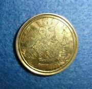 1700's England, Gold Whist Counter Or Spiel Marke. King Of Spades. Rare.