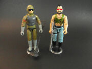 Gi Joe Stands For Display Vintage Action Figures - Clear X 300 T6c