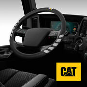Semi Truck Steering Wheel Cover Large Size For 17.5-18 Inch Big Rig Trucks Cat