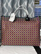 Truss Large Woven Beach Tote Handwoven In Oaxaca Nwt