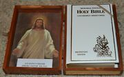 King James Holy Bible Protestant Memorial Edition Wooden Box Made Usa Local 354