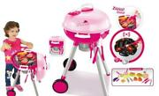 Perfect Cook And Play Pink Bbq Grill Playset Toy W/ Charcoal Lights And Griddle New