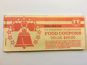 Food Stamp Coupon Book Usda 1994 B 4 X 1.00 Coupons And 1 X 10.00 Coupon Unused