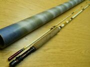Vintage Shakespeare Fy-500 7and0399 Fly Rod W/ Tube Efl 1960and039s 2 Piece
