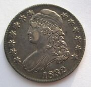 1832 Capped Bust Half Dollar 50c Cent Us Coin Small Letter Almost Uncirculated