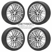 20 Cadillac Ct6 Pvd Bright Chrome Wheels Rims And Tires Oem Set 4 2016-2020 ...