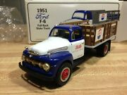 First Gear Pepsi Cola 1951 Ford F-6 Full Rack Stake Truck 19-1091