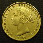1857 Sydney Mint Half Sovereign - Aef - Much Lustre - Ex Nobles Sale