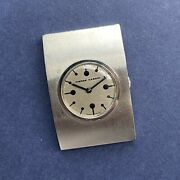 Gents Pierre Cardin By Jaeger 1970andrsquos Drivers Rare Steel Manual Wind Watch
