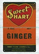 Wall Decor Near Me 1940's, 50's Sweethart Ginger Spice Metal Tin Sign