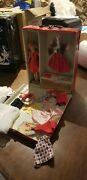 Skipper , Vintage Barbie Doll Case And Clothes
