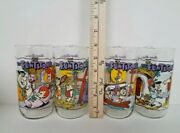 Vintage Collectible 1991 Hardees-the Flintstones First 30 Years Glasses-set Of 4