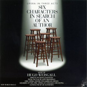 Lyric Opera Center For Amer...-weisgall - Six Characters In Search O Cd Neuf