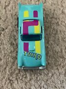 Vintage Flying Colors Hot Wheeland03957 T-birdaqua 1977 In Collectible Case