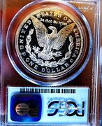 Morgan Silver Dollar 1887 S Pcgs Ms 62pl Looks Dmpl Under Grade Old Holder Rare