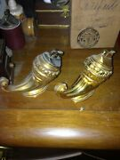 Fine Pair Of Daggar Handle Shaped Cigarette Lighters Gold Color - Very Nice