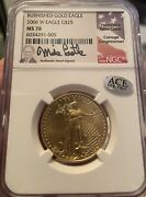 2006 25 Burnished Gold Eagle Ms70 Mike Castle Signed First Year Issue
