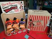 Ludwig Von Drake 1961 Large Display Of 25 New Old Stock Hats In Box Disney Wow