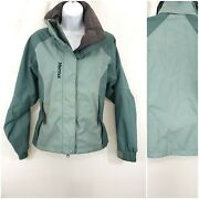 Marmot Womenand039s Green Snow Ski Coat Size S Water Resistant Full Front Zip