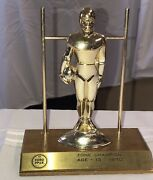 Vintage Ford Nfl Punt Pass And Kick Trophies 1970 Football Statue Player